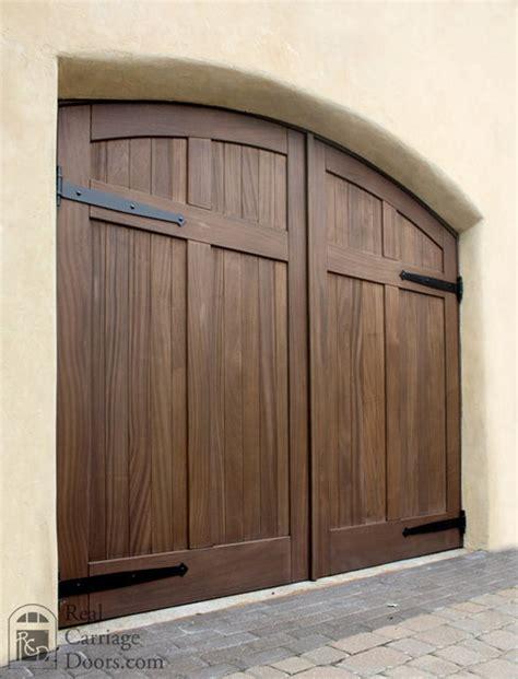 Mahogany Garage Door Mahogany Arched Wood Carriage Garage Doors Garage Doors By Real Carriage Door Company