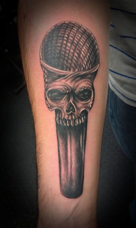 skull music tattoo designs microphone tattoos designs ideas and meaning tattoos