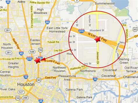 houston map inside 610 one killed after collides with semi truck at the i 610