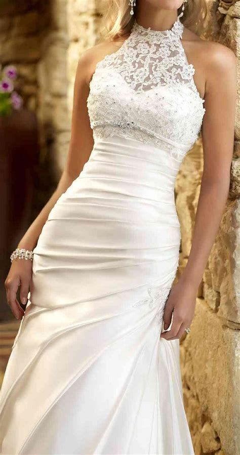 25  best ideas about Halter wedding dresses on Pinterest