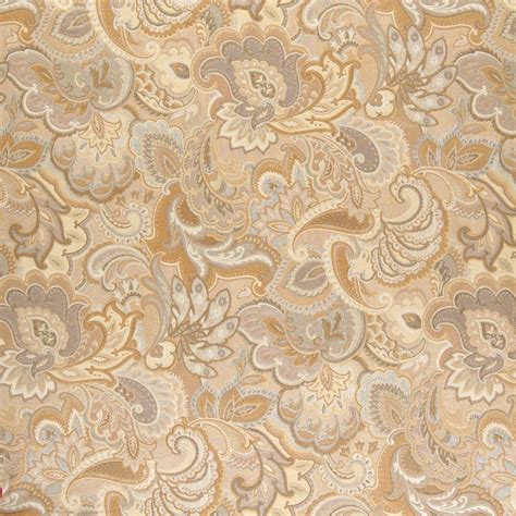 reupholstery fabric gold and beige abstract floral upholstery fabric by the yard
