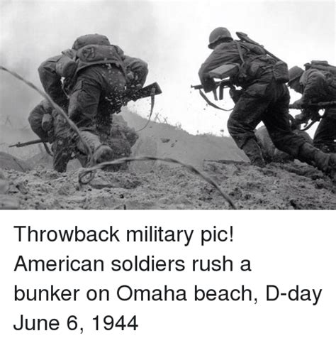 throwback military pic american soldiers rush a bunker on