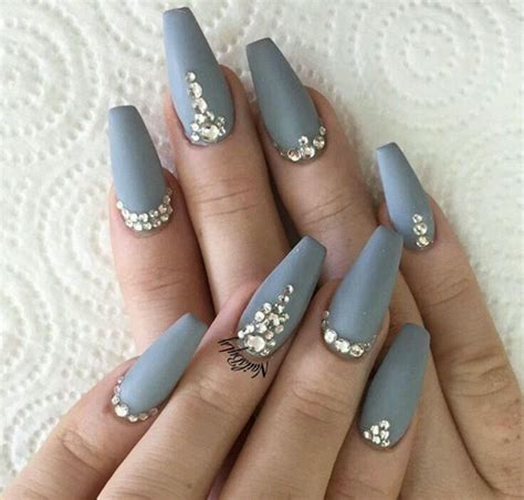 light grey nail light grey manicure pedicure gray