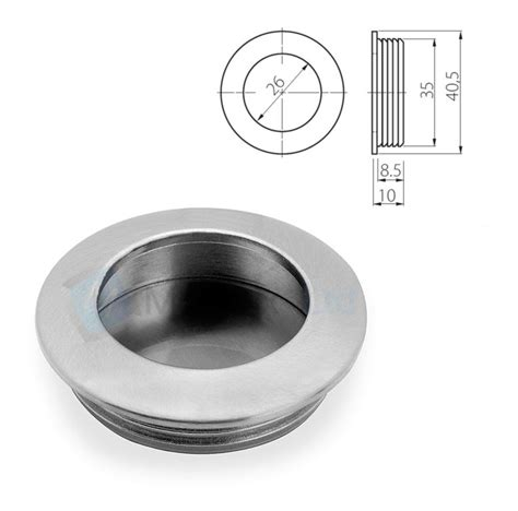 Ebay Kitchen Cabinet Hardware by Recessed Flush Sliding Door Handle Pull Circle Square 1 57
