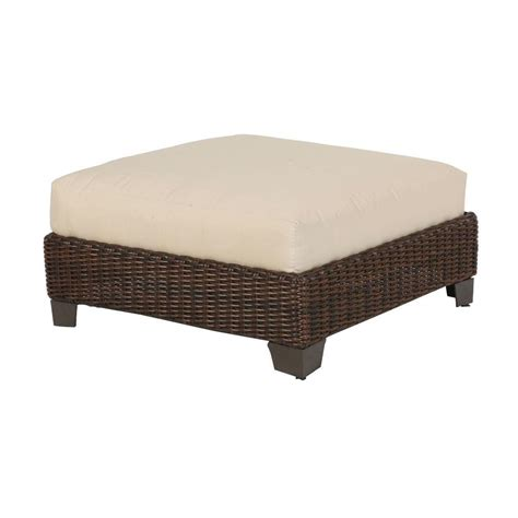 patio ottoman cushions hton bay mill valley beige replacement patio ottoman