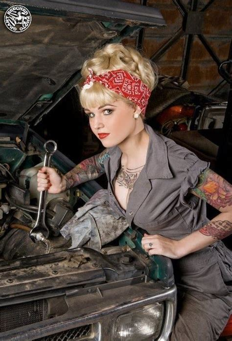 mechanic pin up girl tattoo designs 10 best images about lor mechanic shoot on