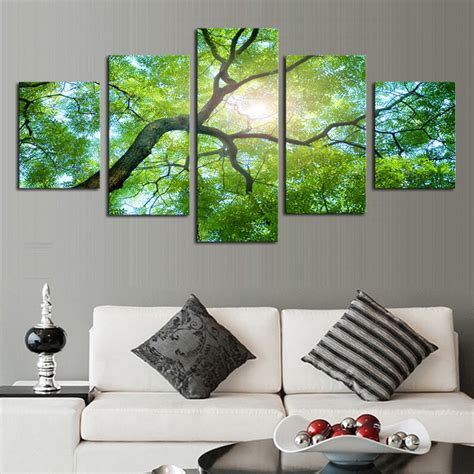 Decoration Definition by Unframed 5 Green Trees Modern Home Wall Decor Canvas