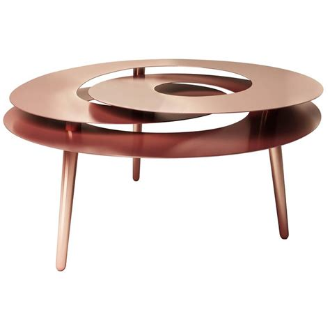 Copper Table L by Rollercoaster Large Table Copper Plated Stainless Steel