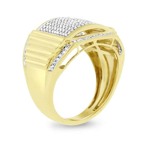 050 ct joe rodeo mens in solid 14k yellow gold