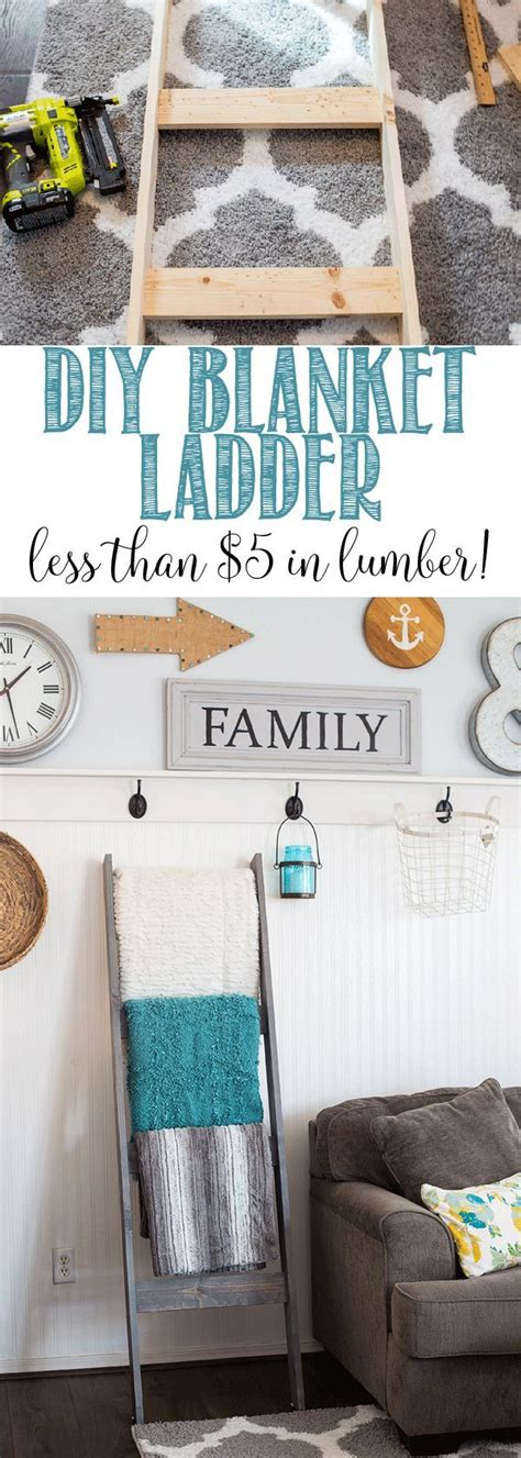 household diy projects for less than 50 diy blanket ladder for less than 5 in lumber great