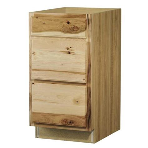 kitchen base cabinets with drawers shop now denver 18 in w x 35 in h x 23 75 in d hickory drawer base cabinet at lowes