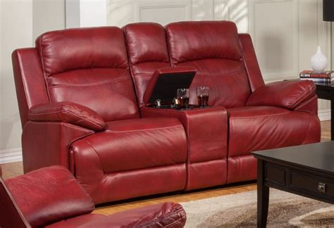 red reclining loveseat cortez red dual glider reclining loveseat with console