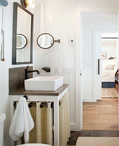 farm style bathroom sink beadboard walls farmhouse sink design ideas