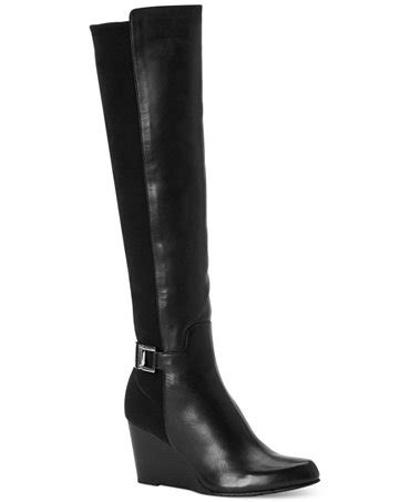 calvin klein s sama wedge boots shoes macy s