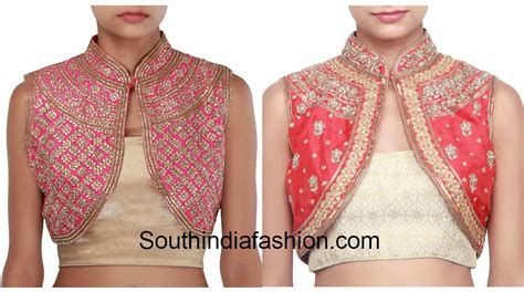 Design Jacket Blouse | classy high neck blouse designs 10 trendy patterns south