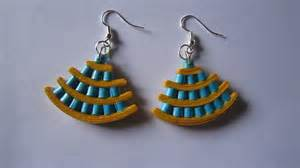 Handmade Paper Jewellery Tutorial - handmade jewelry paper quilling earrings not
