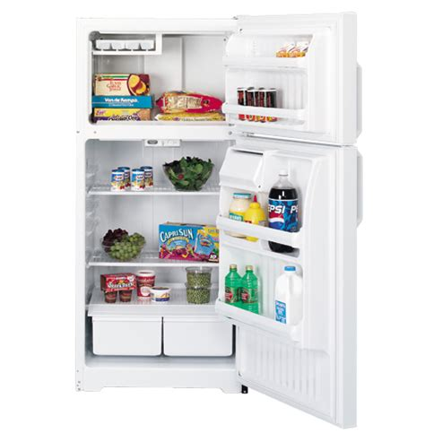 Freezer Cabinet Gea hotpoint 174 14 6 cu ft capacity top freezer refrigerator hth15bbmrww ge appliances