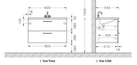 le 90 cm meuble sous vasque loft 2 tiroirs de 90 cm discac
