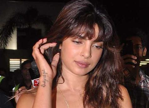 priyanka chopra tattoo on wrist priyanka chopra flaunts new filmfare