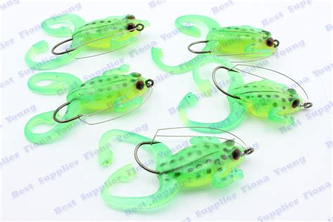 Hook Jump Frog Hook Soft Frog Promo 5 pcs lot soft fishing frog lure fish bait molds tackle with hook free shipping in fishing lures