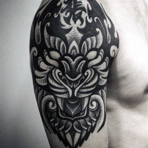 tribal dotwork tattoos 40 tribal tiger designs for big cat ink ideas