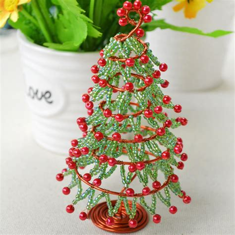 how to make christmas tree decorations at home wire and bead christmas tree fun family crafts