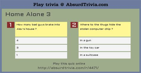 trivia quiz home alone 3