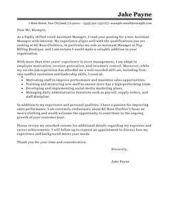 assistant manager cover letter best retail assistant manager cover letter exles