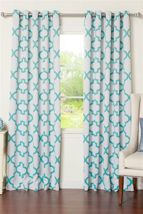 moroccan tile curtains reverse moroccan tile printed grommet curtain pair