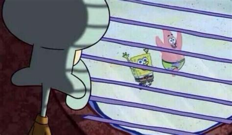 looking out window squidward looking out the window your meme