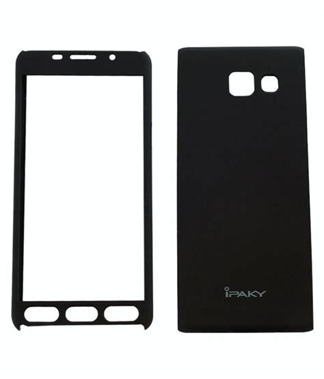 Ipaky Samsung A7 2016 Back Cover Softshell samsung galaxy a7 2016 cover by ipaky black plain back covers at low prices