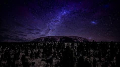 wallpaper ayers   wallpaper mountains night stars