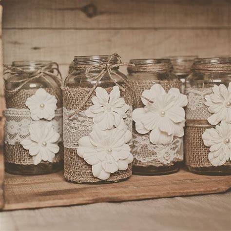 10 lace and burlap wedding centerpieces lace and burlap