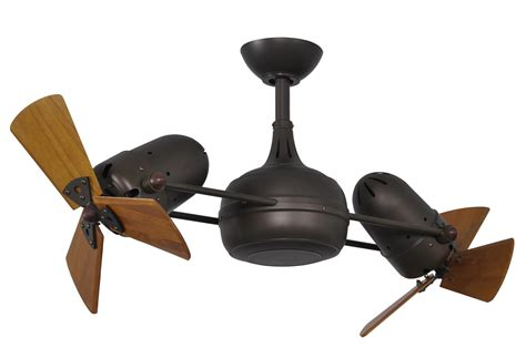 ceiling fan with two fans matthews fan co vb bz wd vent bettina wood 42 inch