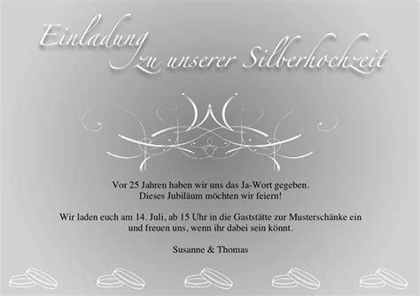 Einladungskarten Silberhochzeit by Einladungskarten Silberhochzeit Vorlagen Kostenlos
