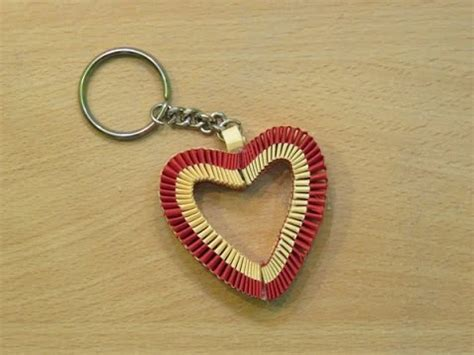 How To Make A Keychain With Paper - how to make a paper keychain s day