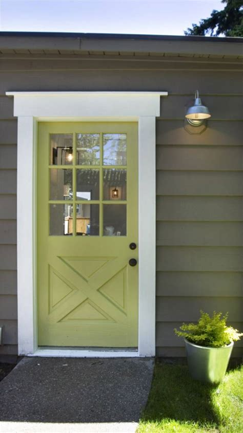 Green Exterior Door Remodelaholic 50 Beautiful Doors Front Door Paint Colors