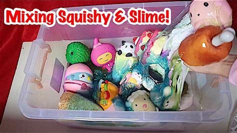 Mixer Gede wooow mixing squishy slime in the box nyurin remas2 squishy dan slime dalam 1 box gede