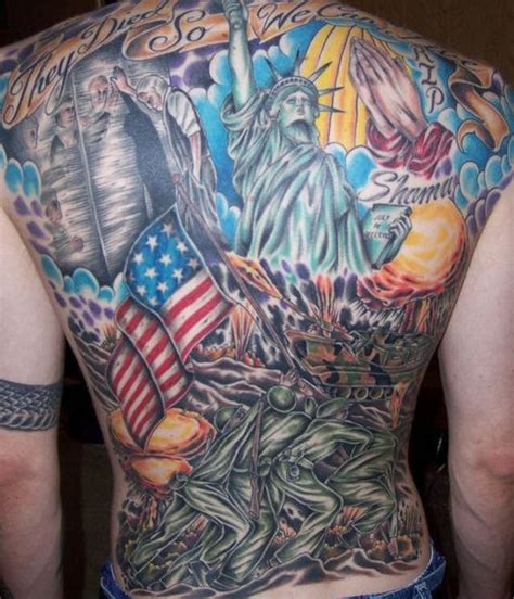 american themed tattoos american patriotic theme back tattooimages biz