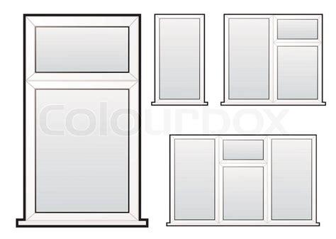 Doppelt Verglaste Fenster by Wei 223 Er Kunststoff Doppelt Verglaste Fenster Illustration
