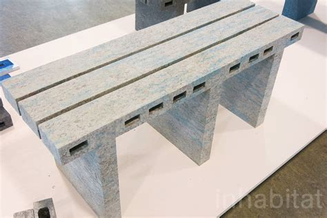 Paper Bricks - designer woojai recycles newspaper into marbled