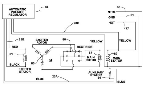brushless alternator schematic diagram circuit and