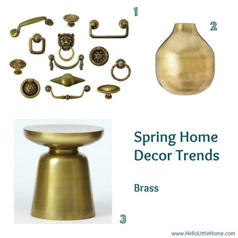 brass home decor my favorite spring home d 233 cor trends