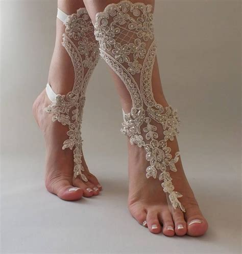 Lace Sandals Wedding by Lace Barefoot Sandals Wedding Barefoot Sandals