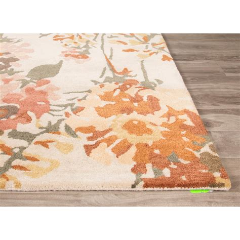 Jaipurliving En Casa Hand Tufted Ivory Orange Area Rug Orange Rugs