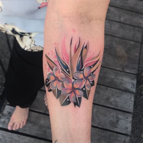 watercolor tattoos montreal flowers geometrictattoo watercolortattoo