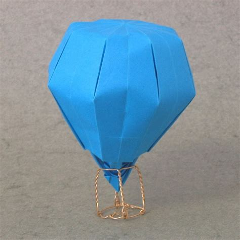 How To Make Paper Air Balloon - how to make an origami balloon