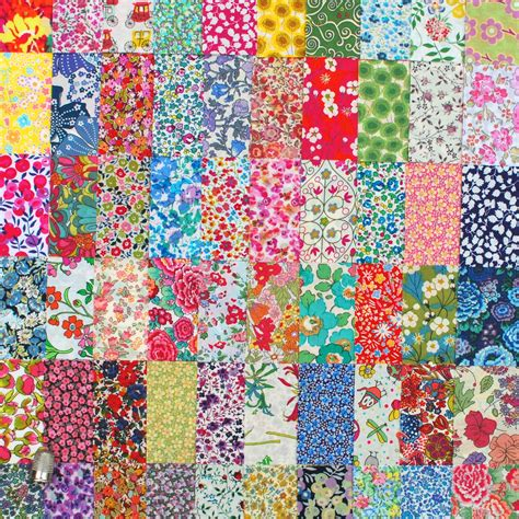 Patchwork Fabrics - 50 liberty lawn fabric 2 5 patchwork charm by libertycharms