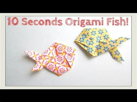 How To Fold An Origami Fish - slower tutorial version fold origami fish in 10
