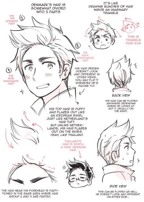 anime hairstyles guys tutorial denmark s hair by rosel d on deviantart